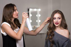 hairstylist doing hair